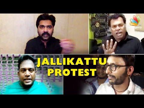 What Kollywood Stars Say about Jallikattu Protest | Simbu, RJ Balaji, Robo Shankar,