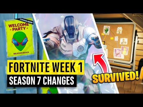 Fortnite All Season 7 Map Updates and Hidden Secrets WEEK 1 INVASION