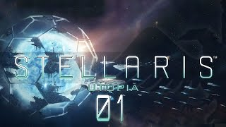 Stellaris Utopia #01 SPACE MONKS - Stellaris Banks 1.5 Update Let's Play