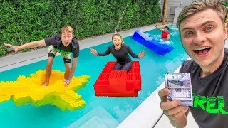 BEST LEGO BOAT WINS $10,000 (LAST TO SINK)