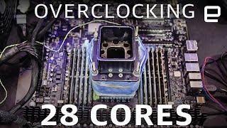 Overclocking a 28-core CPU at Computex 2019
