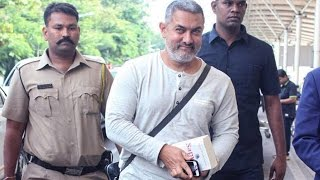 Aamir Khan Spotted At Mumbai Airport In His