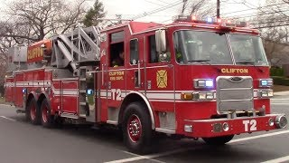 ( Demonracer Over PA ) Clifton Fire Department Truck 2 And Car 8-2 Responding 4-15-17