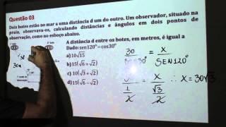 Resolução Questão 3 - Prova EPCAr 2013 - Prof. Haroldo Filho