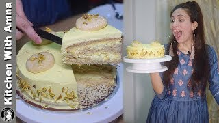 Rasmalai Cake Recipe Without Oven - How To Make Cake In Pressure Cooker - Kitchen With Amna