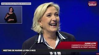 Meeting de Marine Le Pen à Nice  - Les matins de la présidentielle (28/04/2017)