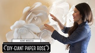 DIY How to Make a Paper Flower Backdrop