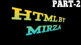2018 : HTML part 2 - HTML for Beginners/Intermediate level.
