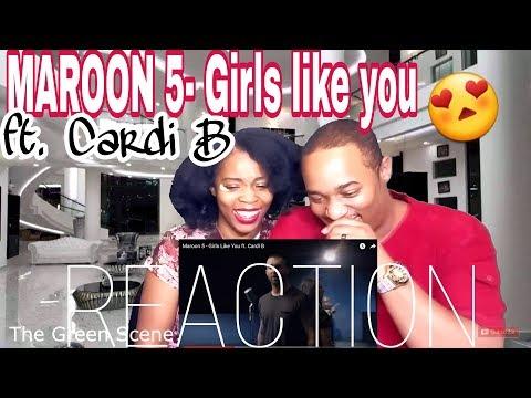 Maroon 5 - Girls Like You ft. Cardi B | Music Video Reaction