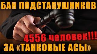 ПОДСТАВНЫЕ БОИ! WG ЗАБАНИЛИ 4556 ИГРОКОВ В