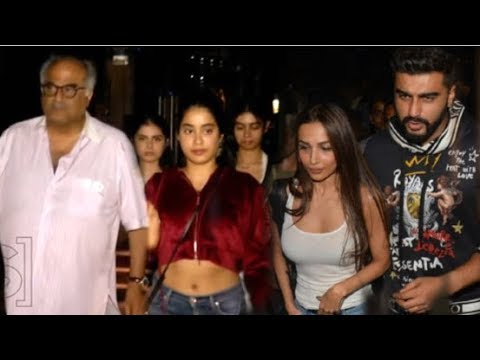 Arjun Kapoor Makes GF Malaika Arora Meet FAMILY- Jhanvi Kapoor, Boney Kapoor & Khushi Kapoor