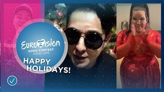 The 2018 Eurovision Song Contest stars wish you happy holidays!