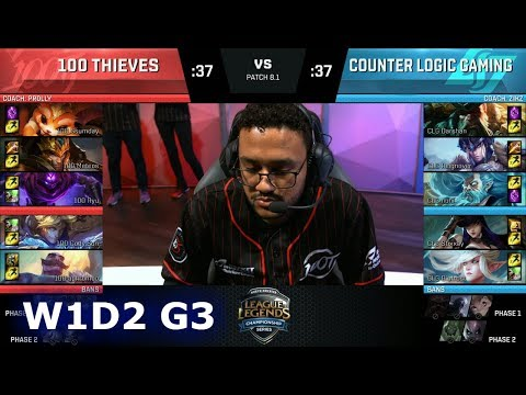 Xxx Mp4 100 Thieves Vs CLG Week 1 Day 2 Of S8 NA LCS Spring 2018 100 Vs CLG W1D2 G3 3gp Sex