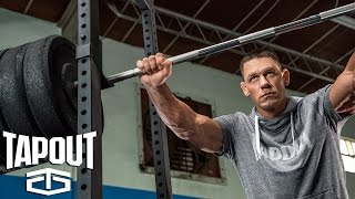 Go behind the scenes of John Cena's workout, powered by Tapout