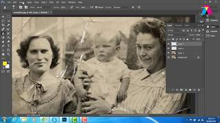 Damage photo repair-Old photo repair in Photoshop-Restore old photos-Old photo restoration Tutorial