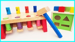 Learn Colors Shapes Baby Toys Hammer Pop Up Toy Shape Sorting for Babies Toddlers Preschoolers