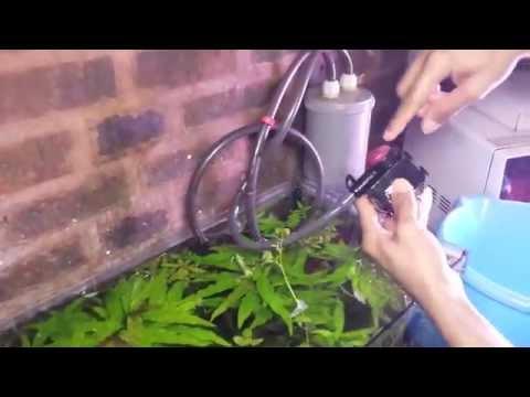 Fabrication pompe externe pour aquarium