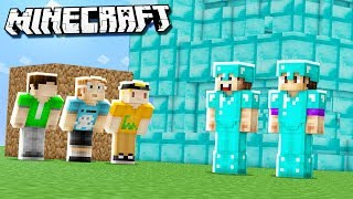 DIAMOND HOUSE vs. DIRT HOUSE! (Denis, Sketch, Alex, Corl & Sub BUILD OFF in Minecraft)