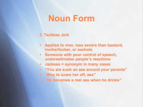 How to Use Ass Pt 1: Noun Form | Will's Guide to English Swearing