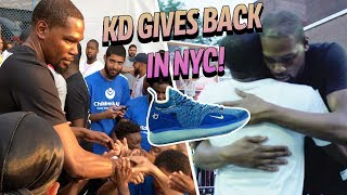 Kevin Durant Gives Away FREE KD 11s! Returns To DYCKMAN & Hangs With Fans 👀