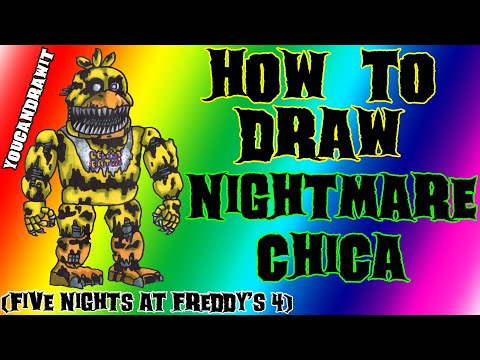Xxx Mp4 How To Draw Nightmare Chica From Five Nights At Freddy S 4 ✎ YouCanDrawIt ツ 1080p HD FNAF 3gp Sex