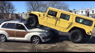 I Crushed a Chrysler PT Cruiser with a Hummer