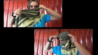 HOW TO TIE A SHEMAGH, SIMPLE FACE AND HEAD WRAP, military style