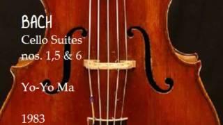 Bach Cello Suites nos 1,5 & 6 Yo Yo Ma 1983