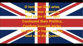 British National Anthem - God Save the Queen Lyrics