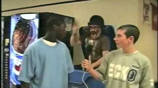 Halloween prank gone wrong! Don't scare black guys! Must see!