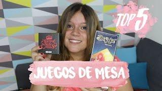 MI TOP 5 MEJORES JUEGOS DE MESA | Laura Yanes