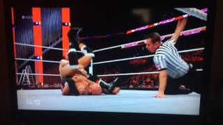 Now this is a sunset flip power bomb, John Cena is a bum!