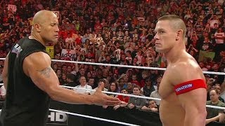 The Rock and John Cena agree to meet at WrestleMania 28: WWE Raw