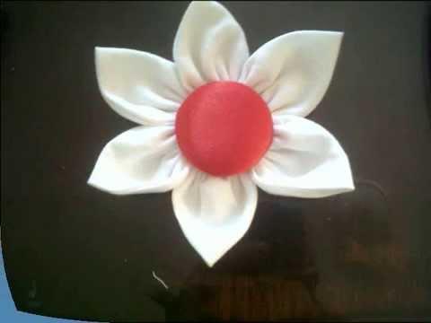 TUTORIAL como hacer una flor en tela