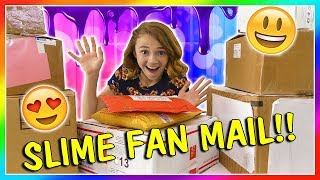OPENING SLIME FAN MAIL! | We Are The Davises