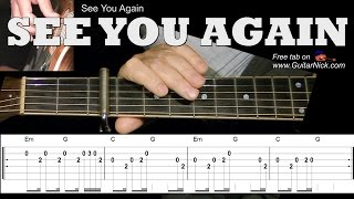 SEE YOU AGAIN (Furious 7) Easy Guitar Lesson + TAB + Chords by GuitarNick