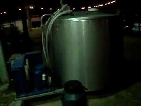Tanque de resfriamento manutenção da qualidade do leite