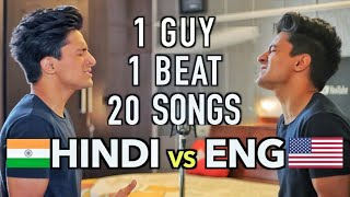 ENGLISH v/s HINDI Songs (Mashup by Aksh Baghla)