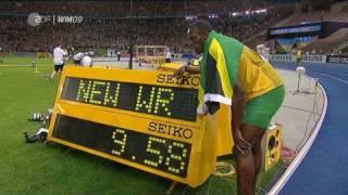 USAIN BOLT9.58 s BERLIN GERMANY 9,58 s 100m NEW 2009 World Record HD