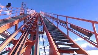 Goliath Front Row POV Six Flags Magic Mountain