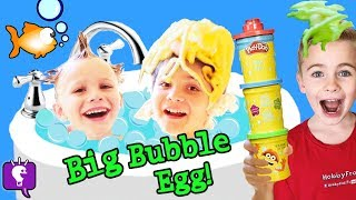 Giant BUBBLE EGG with Octonauts and Thomas and Friends - Toys Review