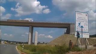 Bau der Autobahnbrücke A 44 bei Wehretal/Eschwege: Stand 08.07.2017
