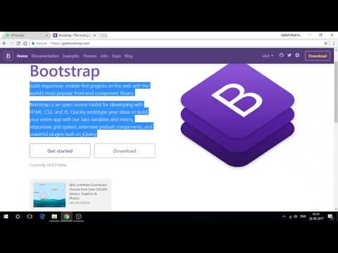 Bootstrap 4 tutorial in Hindi Part 1