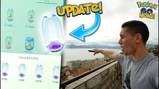 BUYING NEW SUPER INCUBATOR IN POKÉMON GO! UPDATE IS HERE! + POKÉMON GO ON A WATCH TOWER!