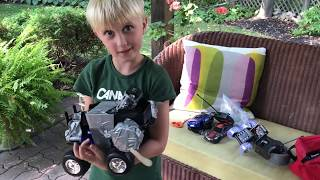 Homemade BATTLEBOTS! Recycle Old Remote Controlled Cars For Battle!!