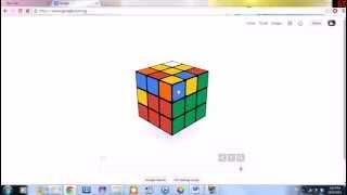 Solve Google Rubik's Cube Doodle in 1 min 44 sec - 95 moves
