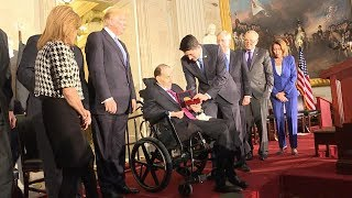 President Donald Trump attends Congressional Gold Medal ceremony for former Sen. Bob Dole | ABC News