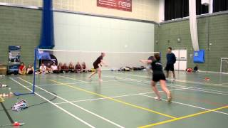 SSS Badminton Championships 2014 WS Final Collinson vs Hall