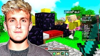 JAKE PAUL PLAYS MINECRAFT BED WARS! (WITH MOOSECRAFT)