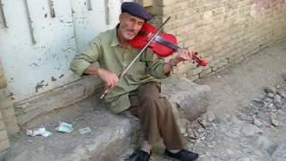 Mountain Violinist in Iran